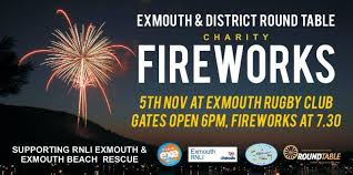 exmouth round table annual charity fireworks display in aid of exmouth rnli