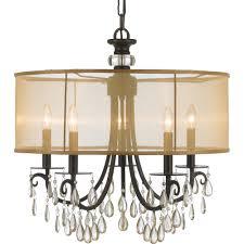 Sausalito 5 Light Pendant Crystorama Lighting 5625 Eb Five Light Chandelier Light