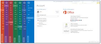 how to change the office 2013 background theme shown here