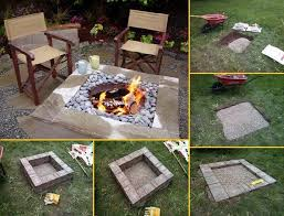 diy outdoor projects. Fine Projects DIY Home Project Outdoor Square Fire Pit  Find Fun Art Projects To Do At  And Arts Crafts Ideas   Intended Diy