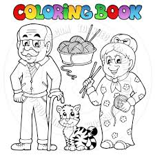 Wild Family Coloring Photo In Family Coloring Book At Coloring