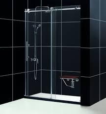 dreamline shdr 61607610 07 dreamline enigma x 56 to 60 fully frameless sliding shower door clear 3 8 glass door brushed stainless steel finish