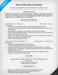 Career Objective For Experienced Resume Data Analyst Resume Sample Writing Tips Resume Companion 64