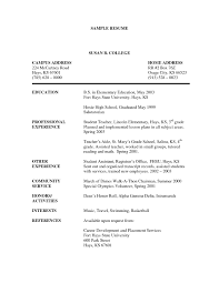 Sample Teacher Resumes And Cover Letters Special Education