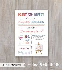 painting party invites wine and painting canvas party invites bachelorette or birthday party