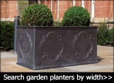 outdoor garden planters. Pots Large Garden Troughs Made From Fibreglass Outdoor Planters K