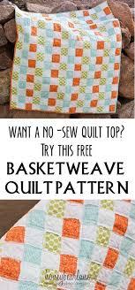 Best 25+ No sew quilts ideas on Pinterest | DIY blankets no sew ... & Basketweave Quilt Pattern Adamdwight.com