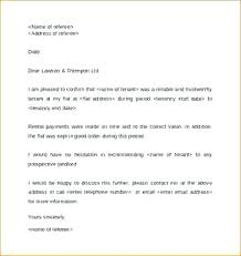 Landlord Reference Letter Template Rental Personal For Apartment ...