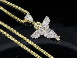 men s 10k yellow gold genuine diamond