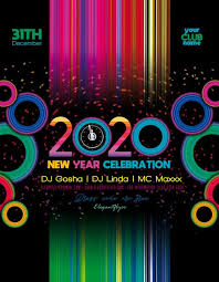 New Year 2020 Celebration Free Flyer Template Psd