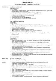 Cnc Machinist Resume Template