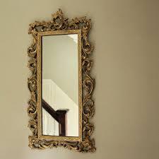 antique gold ornate slim wall mirror 26cm x 51cm