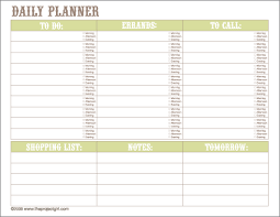 Downloadable Daily Planner Fascinating Daily Planner And To Do List For Home Organization Notebooks