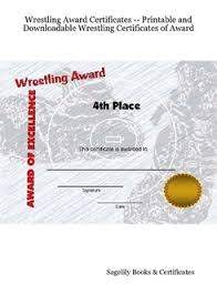 Wrestling Award Certificates Printable And Downloadable