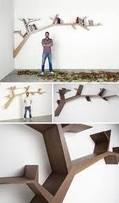 Storage & Organization: Cool Hanging Branches Tree Bookshelf - Top 10 DIY  Bookshelf Designs