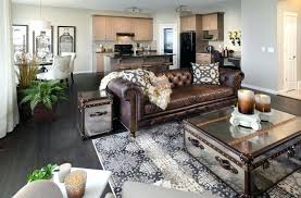 how to decorate with brown leather furniture on design sofa decor couch rug ideas