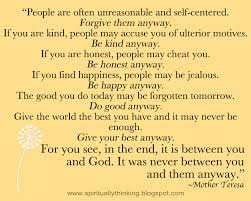 Mother Teresa Famous Quotes Do Good Anyway