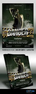 Danger Party Flyer 22489462 – Uxfree.com