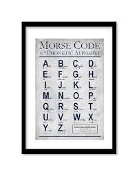 Us army military alphabet reference chart phonetic usa army family american veteran motivational patriotic officially licensed laminated dry erase sign poster 12x18. Morse Code Phonetic Alphabet Wall Art Set Of 1 Vintage Print Educational Art Children S Wall Art Playroom D Aviation Decor Phonetic Alphabet Military Decor