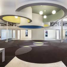 open office ceiling decoration idea. Awesome Open Office Lighting Design With Pendant And False Ceiling  Decoration Over Brown Carpet Round Pattern Open Office Ceiling Decoration Idea C