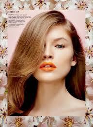 kenneth soh using l oreal paris for es magazine orange lipsbeauty shoot makeup