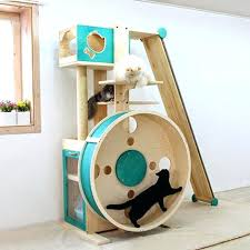jump cat furniture.  Cat A Cat Tree Hamster Wheel And Wheels Make Out Of Cardboard Boxes Inside Jump Cat Furniture