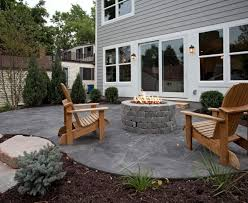 stamped concrete patio with fireplace. Marvelous Stamped Concrete Patio Trend Minneapolis Traditional Decorating Ideas With Adirondack Chairs Firepit Gray Fireplace