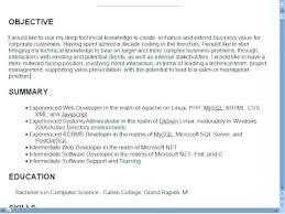 Opening Resume Statement Jalcine Me