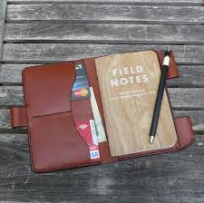 custom made garny field notes leather cover notebook journal wallet