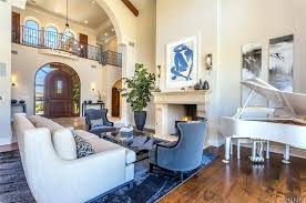 full size of awesome the formal living room features a white couch in front of fireplace