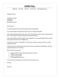 care of letter fast food cover letter