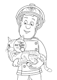 Small Picture Fireman Sam Coloring Pages diaetme