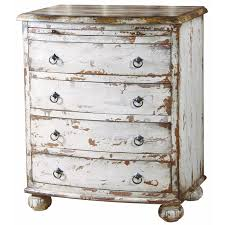 white distressed chest from