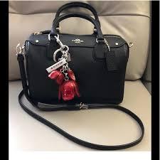 Mini Bennett Satchel Handbag with Coach Bag Charm