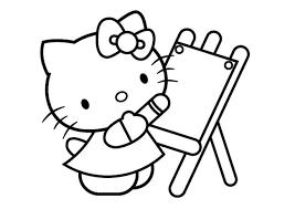 Hello Kitty Che Disegna Da Colorare Cose Per Crescere