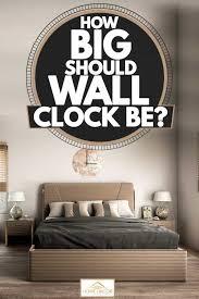 how big should wall clock be home
