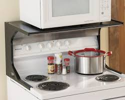 over the stove microwave. Kitchen, Over The Range Microwave On A Shelf: Stove Shelf S