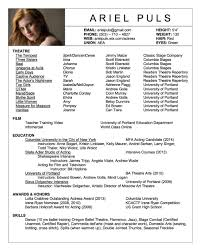 Actor Resume Actor Resume Acting Resume Example Unique Images About