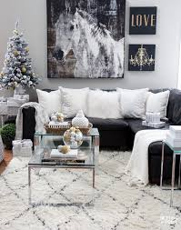 The living room isn't complete without a modern coffee table. Christmas Family Room Decor Ideas Setting For Four