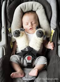 lamb car seat strap covers free crochet and knit patterns from melody s makings