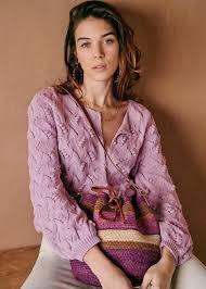 Marthe Jumper - <b>Light violet</b> - Organic Cotton - Sézane
