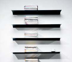 exilis wall mounted by nonuform shelving