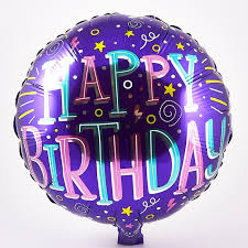 Happy Birthday Purple Foil Helium Balloon Card Factory
