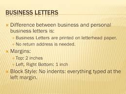 Personal Business Letter Examples Business Letters Ppt Video Online Download