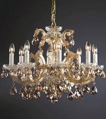 fascinating gold crystal chandelier lights