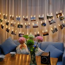 indoor string lighting. 2M 20 Led Photo Clip String Lights Christmas Fairy Battery Indoor Decoration Light For Lighting B
