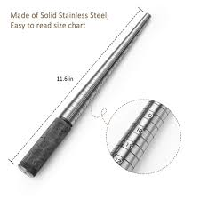 Accmor Ring Sizer Measuring Tool Including Stainless Steel Ring Mandrel