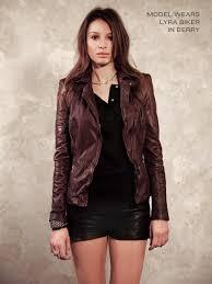 lyra leather biker in concrete grey