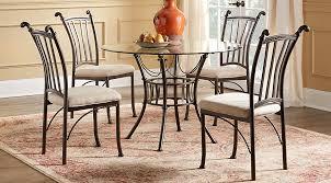 metal dining room furniture. metal 5 pc round dining set room sets furniture m
