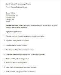 Product Manager Resume Cool 60 Product Manager Resume Templates PDF DOC Free Premium